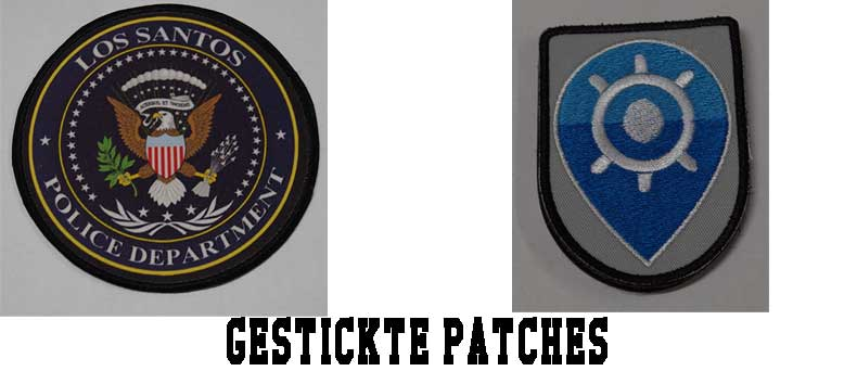 gestickte patches
