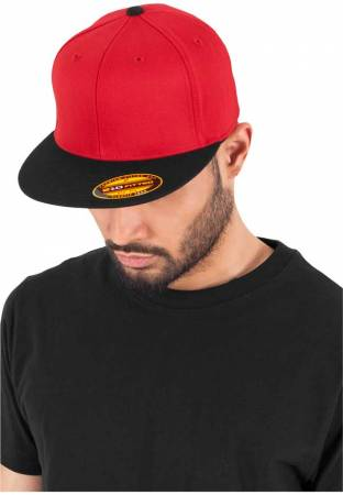Flexfit Flatpeak 210 red black