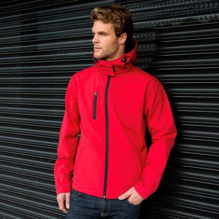 Mens Core Lite Hooded Soft Shell Jacket