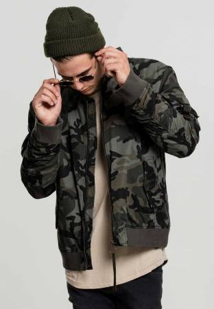 Vintage Camo Cotton Bomber Jacket