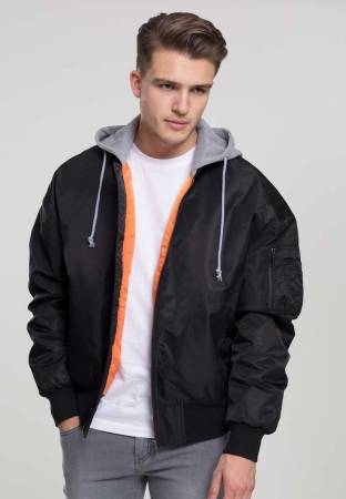 Hooded Oversized Bomber Jacket