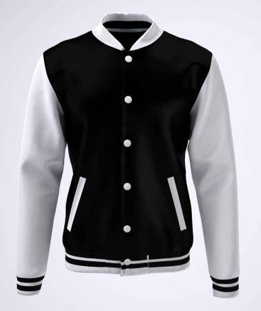 College Jacke Konny Design black white