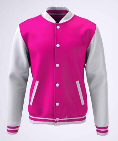 College Jacke Konny Design pink white