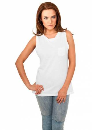 Ladies Sleeveless Pocket Tee