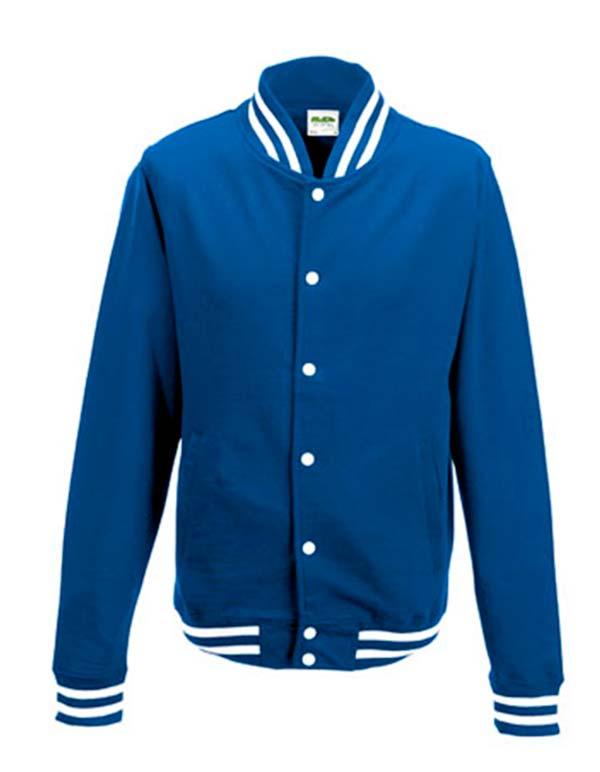 Abschluss und College Jacken mit eigenen Aufdruck bedrucken. Diese kultige Jacke besteht aus 70% Baumwolle und 30% Polyester und verfügt über eine Stoffdichte von g/m².