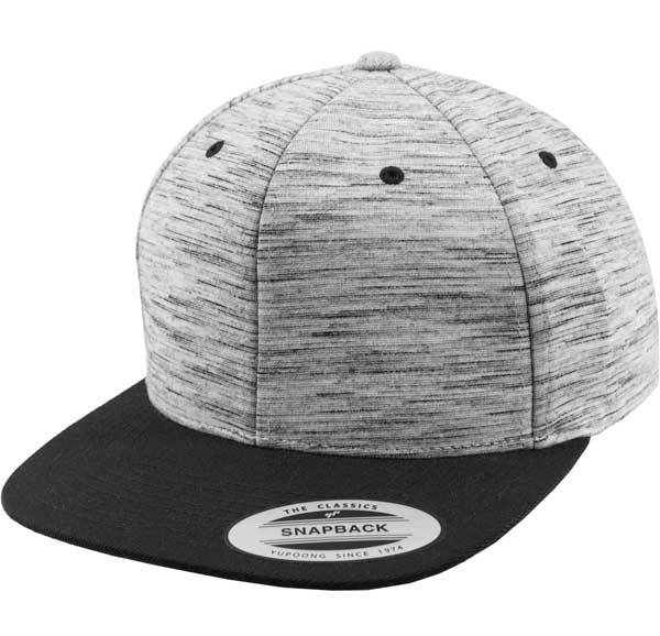 Yupoong Stripes Melange Crown Snapback