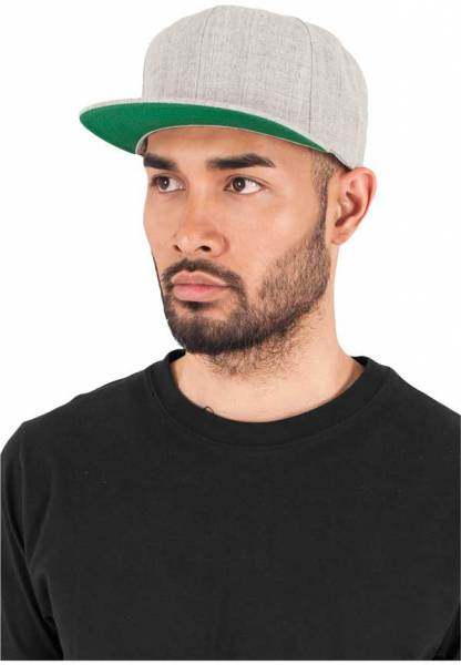 Yupoong Snapback Cap heather grey