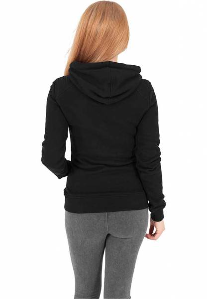 Ladies Melange Shoulder Quilt Hoody