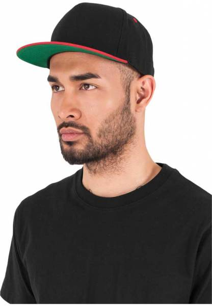 Yupoong Snapback 5 Panel black red