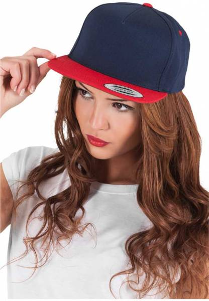 Yupoong Snapback 5 Panel navy red