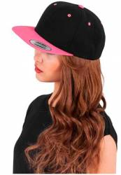 Original Flexfit Cap black neonpink