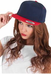 Yupoong Snapback 5 Panel navy red Konny Design